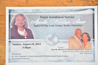 Apostle Marilyn Shaw Installation Celebration Aug 18, 2013