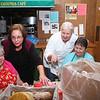 Janice Pachniuk, Lisa Nahm, Linda Booth and Kathy Bateman talking BREAD.
