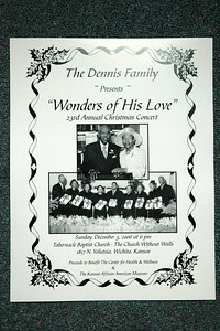 """The Dennis Family """"Wonders of His Love""""  23rd Annual Christmas Concert Dec 3, 2006"""