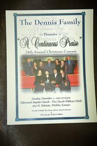 """The Dennis Family presents """"A Continuous Praise"""" Dec 2007"""