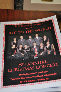 The Dennis Family presents JOY TO THE WORLD 25th Annual Christmas Concert Dec 7, 2008