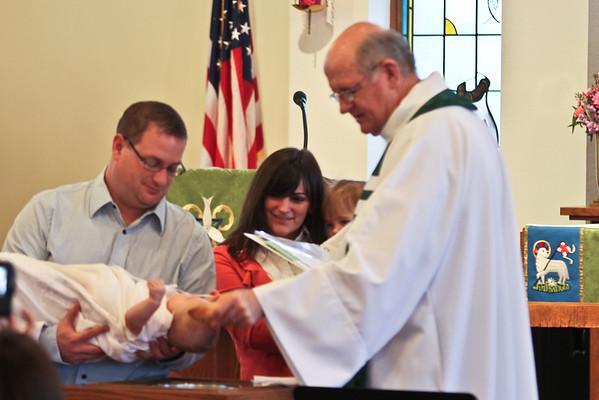 Vermilion Baptism of Adison Stepp at Trinity Lutheran on February 6, 2011