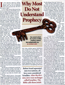 Why Most Do Not Understand Prophecy.