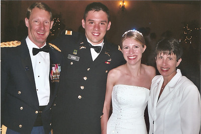 On the left is Mike Newton, a teacher at West Point Academy and on the far right is his wife Jeanne. The Newtons introduced John and Laura.