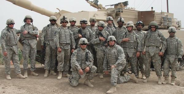 John's platoon. (John Edds is front row, left)
