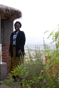 2007- Ruthie Chisale, standing at the gazebo overlooking Mtendere Village.