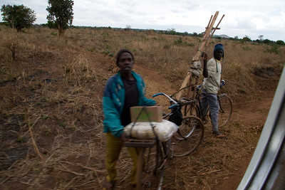Walking is the most common mode of transport followed by bicycle. Malawians are very creative at transport of goods they sell or purchase.