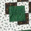 "2010 Quilting Fundraiser: Quilt P1040167. 48"" x 59"" (Christmas lap quilt) $80 DETAIL"