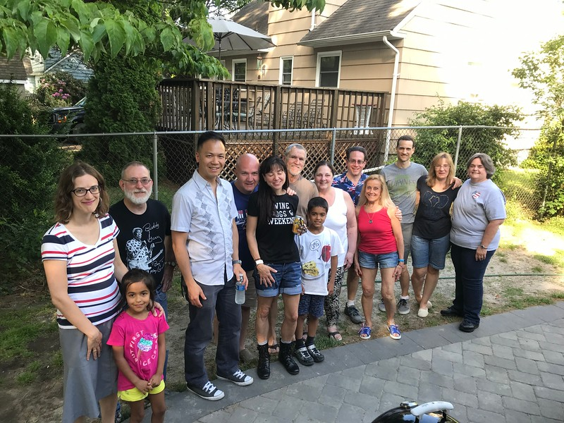 Gathering of Friends at the Roberts' House  May 27 2019