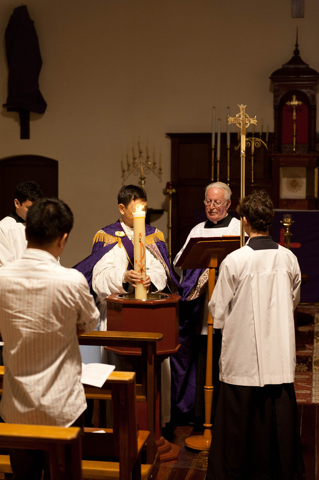 Blessing of holy water at the Easter Vigil