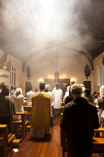 Midnight Mass procession