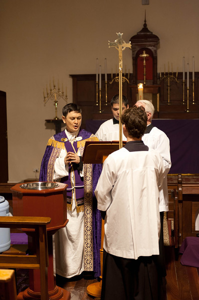 Blessing of the holy water at the Easter Vigil