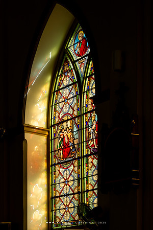 Stained Glass Window, Holy Rosary Church (Kalawar Church)