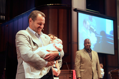 Baptism of Mia Lane Thompson, daughter of Joshua & Ashley Thompson.