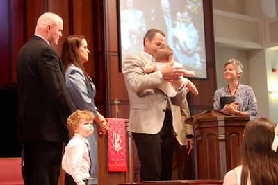 Baptism of Patricia Billie Young Holman, daughter of Patrick & Grania Holman