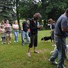 Lots of dogs at the blessing of the pets service.