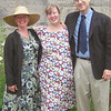 Never to be seen again - Joel in a tie, Donna in a dress, and Julie-Ann as minister