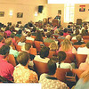 """The congregation at Julie-Ann's last sermon - choose """"Original"""" to get up close and personal."""