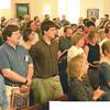 "The congregation during Julie-Ann's last sermon, 6/27/04 - choose ""original"" for best view."