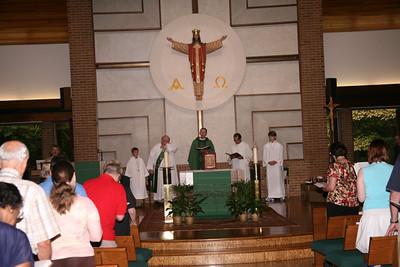 Mass and Agnes Kovac's Farewell 8/2/2009