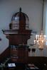Preekstoel gezien vanaf het orgel.