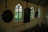 De drie borden naast elkaar gezien vanaf het orgel.