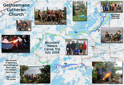 Boundary Waters Canoe Trip Group 1...Version 2 (19 x 13 inches, 150ppi)
