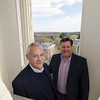 Rev. Robert Johansen and Standing Committee Chairman Mark Knop inside the cupola of the First Church of Christ Unitarian in Lancaster, which was founded in 1816 and is celebrating it's 200th year. SENTINEL & ENTERPRISE / Ashley Green