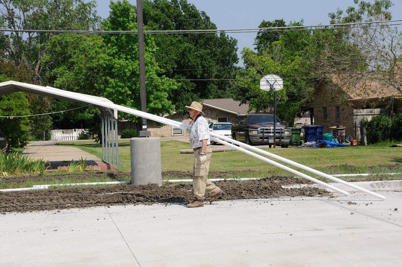 05/05 - Installing Sprinkler System