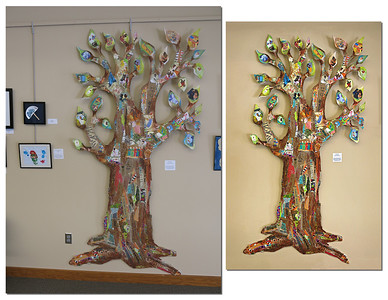 "Kids Tree before and after ""enhancing"""