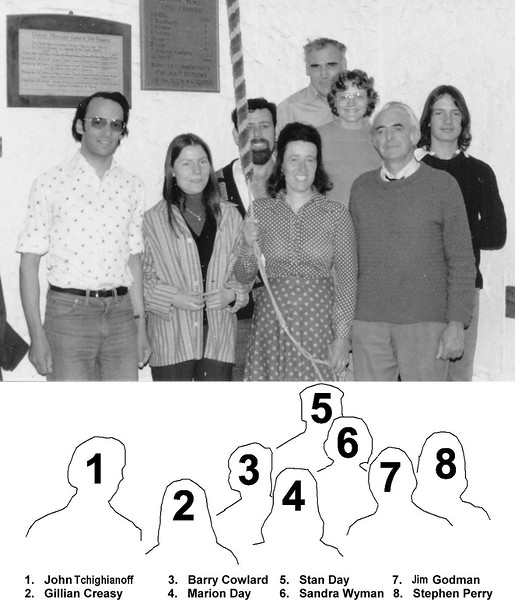 <center><font size=3><u> - St Helen's Bell Ringers - </u></font> (BS0711)  Quarter Peal Band.   See also BS0711 & BS0712
