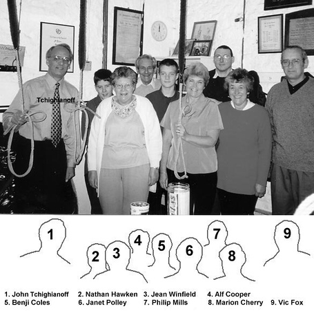 <center><font size=3><u> - St Helen's Bell Ringers - </u></font> (BS0712)  Ringing in the new millenium at midnight on 31st December 1999.