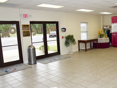 Immanuel Baptist Church main doors, inside.