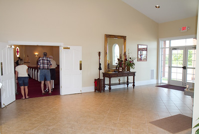 Foyer at Antioch.....the door to the right is the side door..