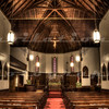 The Episcopal Church of Our Savior in Placerville, CA, built in 1865, looking forward.