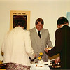 Hosting one of many dinners. Church anniversary 1989