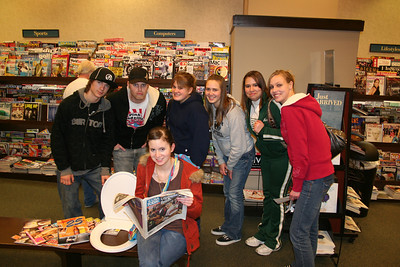 High School Scavenger Hunt Feb 08 in a bookstore