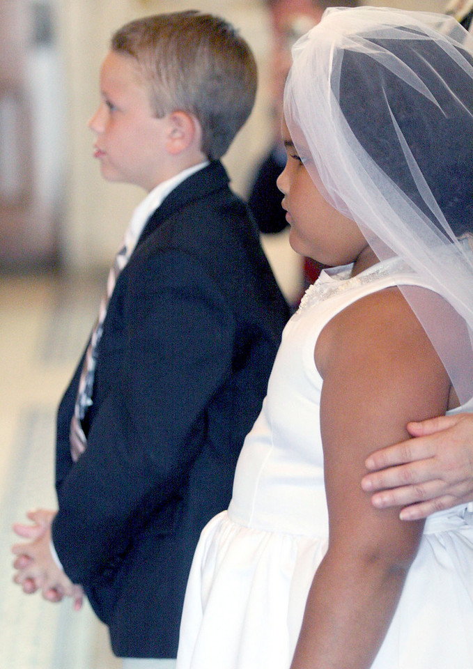 E.L. Hubbard photography<br /> Jackson Beachler and Haili Frowein, First Communion<br /> Holy Trinity 150th
