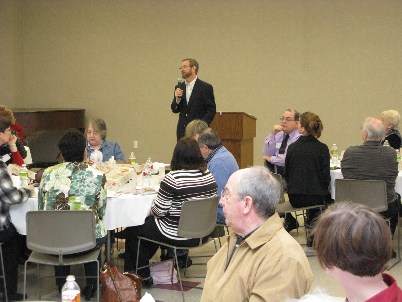 Jeff discusses how to start, or expand, Bible classes at a special luncheon for leaders.