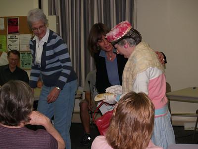 "Eunice helping poor ""Edith""!"