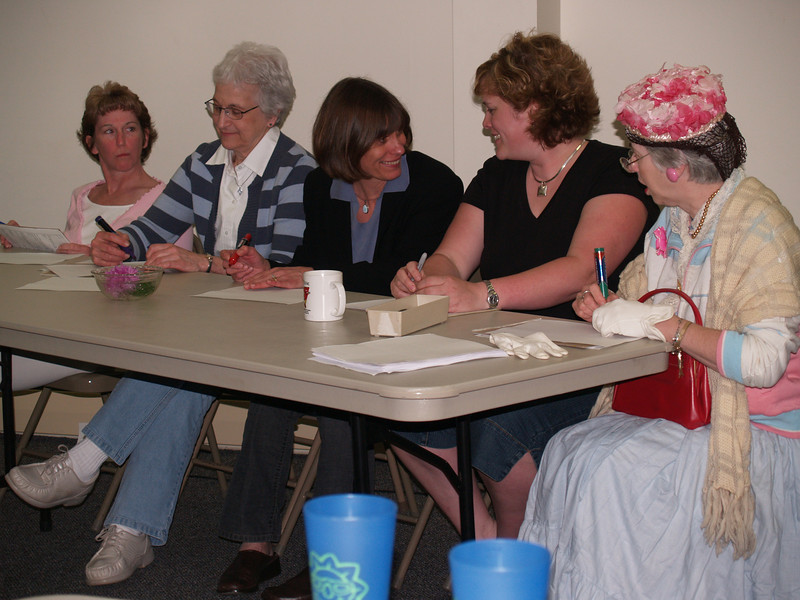 Women waiting for questions - Mary, Emma, Eunice, Sarah, Leona