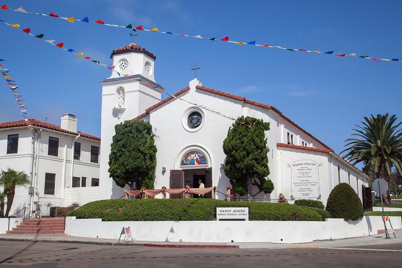 Saint Agnes Roman Catholic Church -  San; Diego
