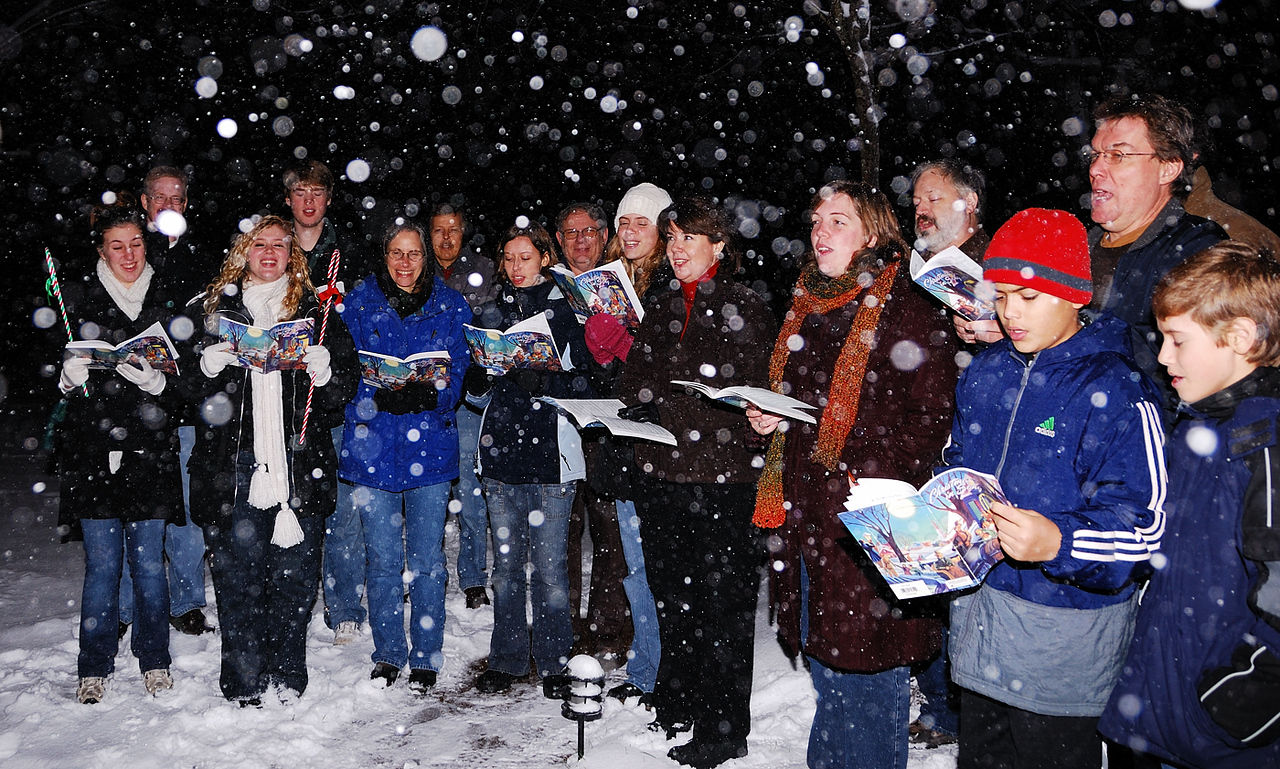 Caroling at the Meyer's home!
