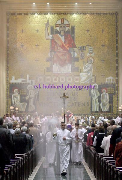 E.L. Hubbard for The Telegraph<br /> Mass concludes