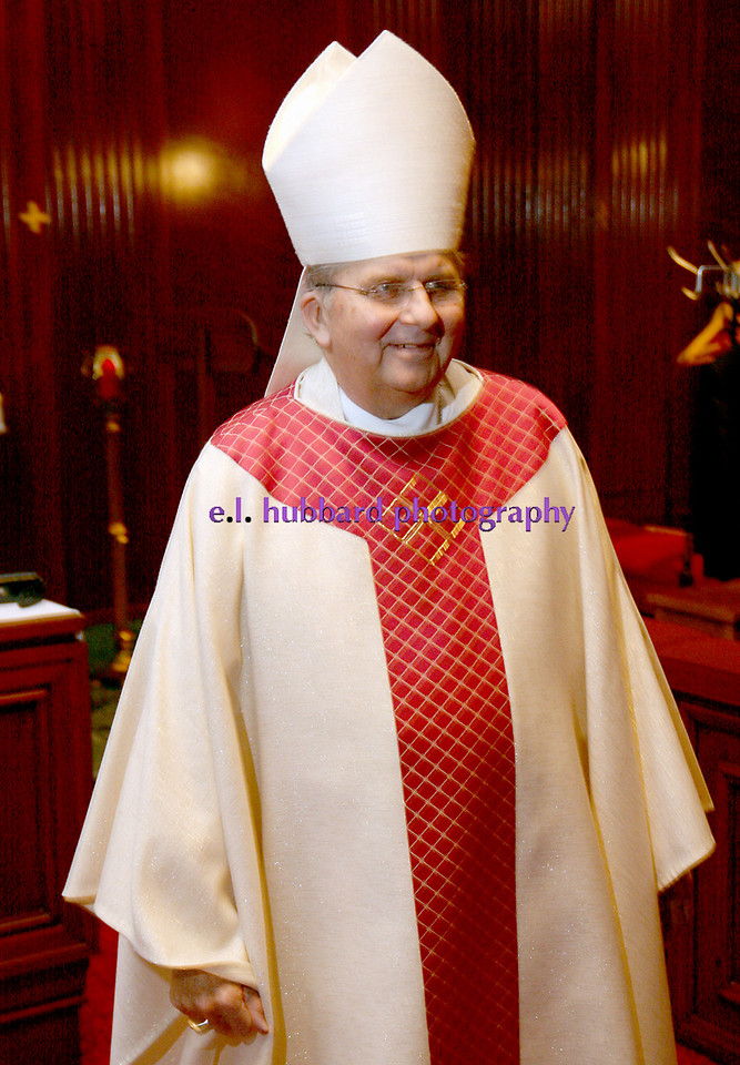 E.L. Hubbard for The Telegraph<br /> The Bishop is ready for Mass