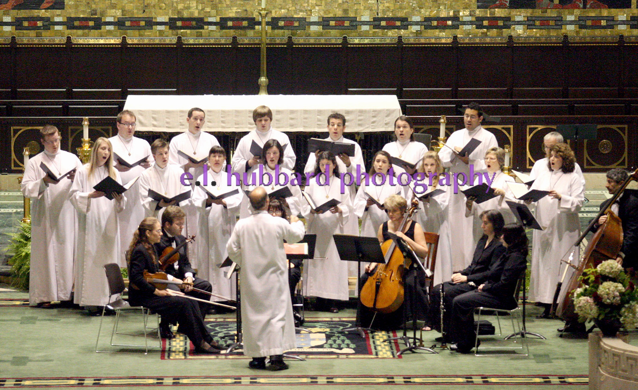 E.L. Hubbard for The Telegraph<br /> The choir performs before Mass