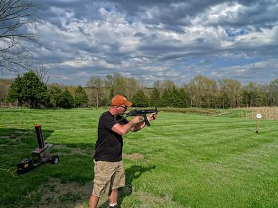 Wayne shooting his MP5.