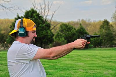 Tim shoots his Russian revolver (something like a Yugo, I think).