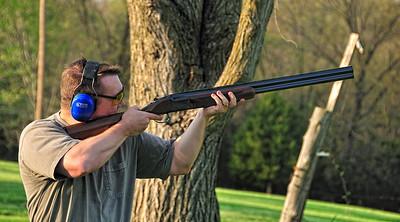 Jason shooting skeet.