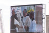 Canonization Ceremony on Big Screen